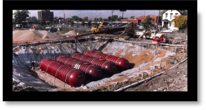 underground double wall piping and tank installation
